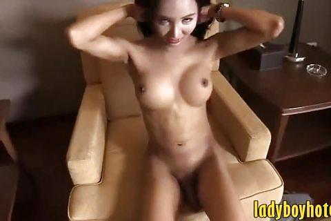 Tight ladyboy gets anal pounded bareback